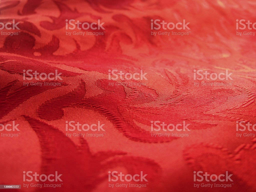 Soft red fabric closeup royalty-free stock photo