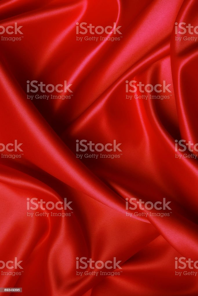 Soft red satin stock photo