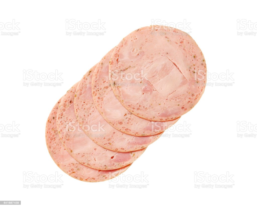 soft sausage slices stock photo