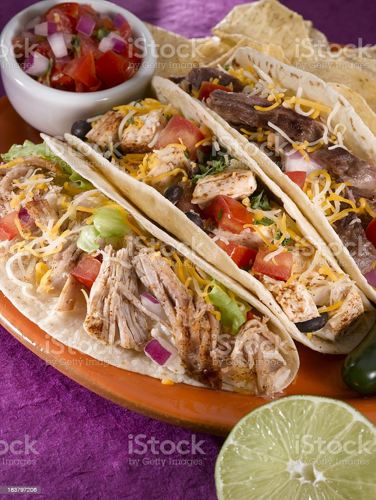 Soft Shelled Tacos stock photo