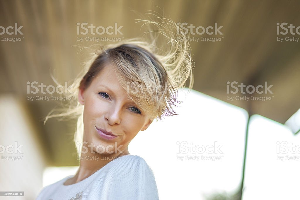 Soft spring portrait of young woman royalty-free stock photo