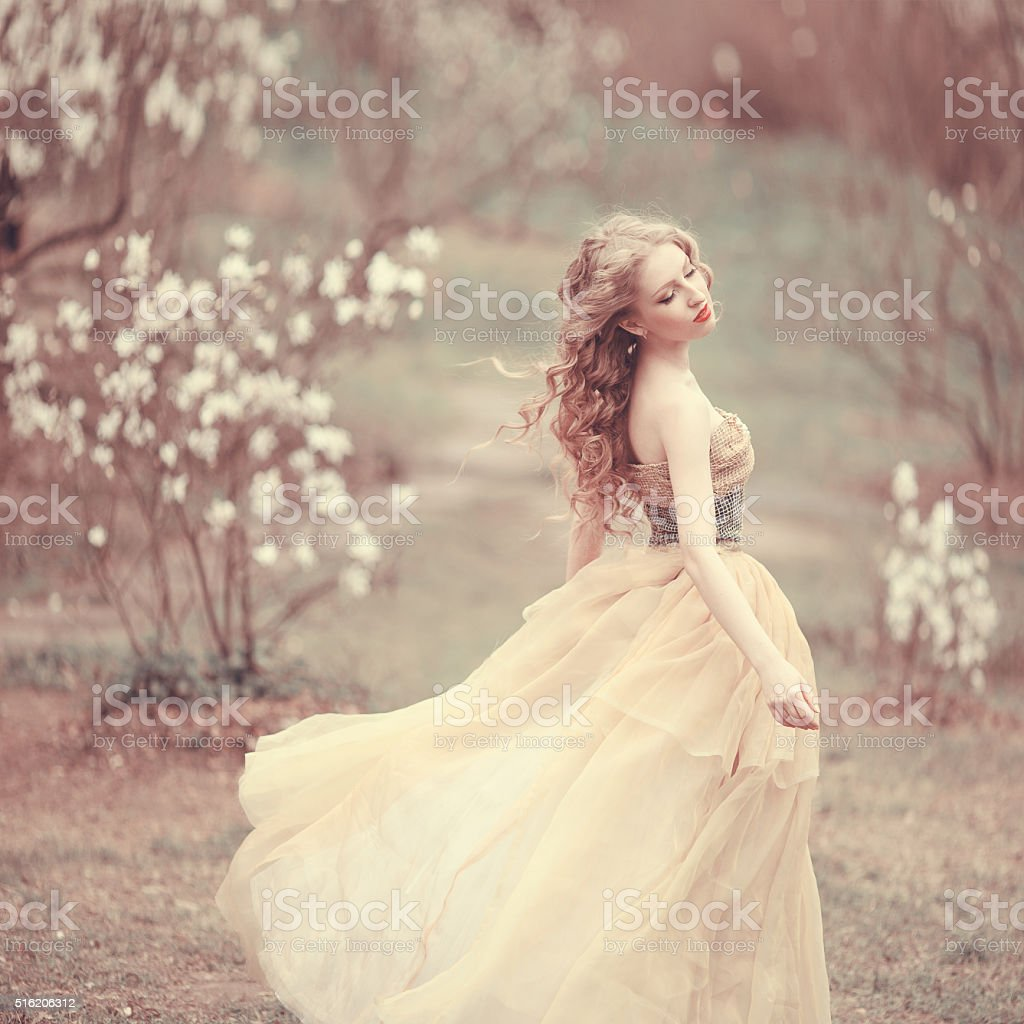 Soft spring tenderness stock photo