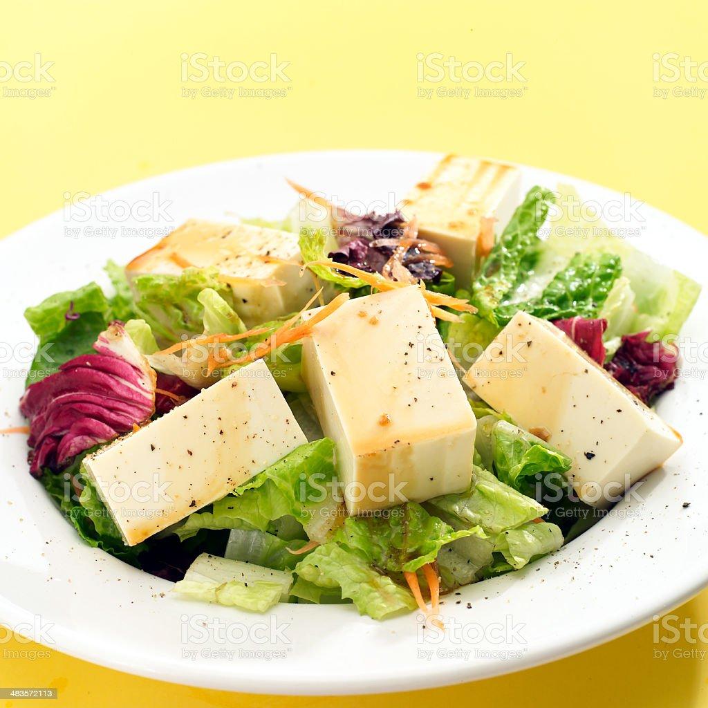 Soft Tofu Salad royalty-free stock photo