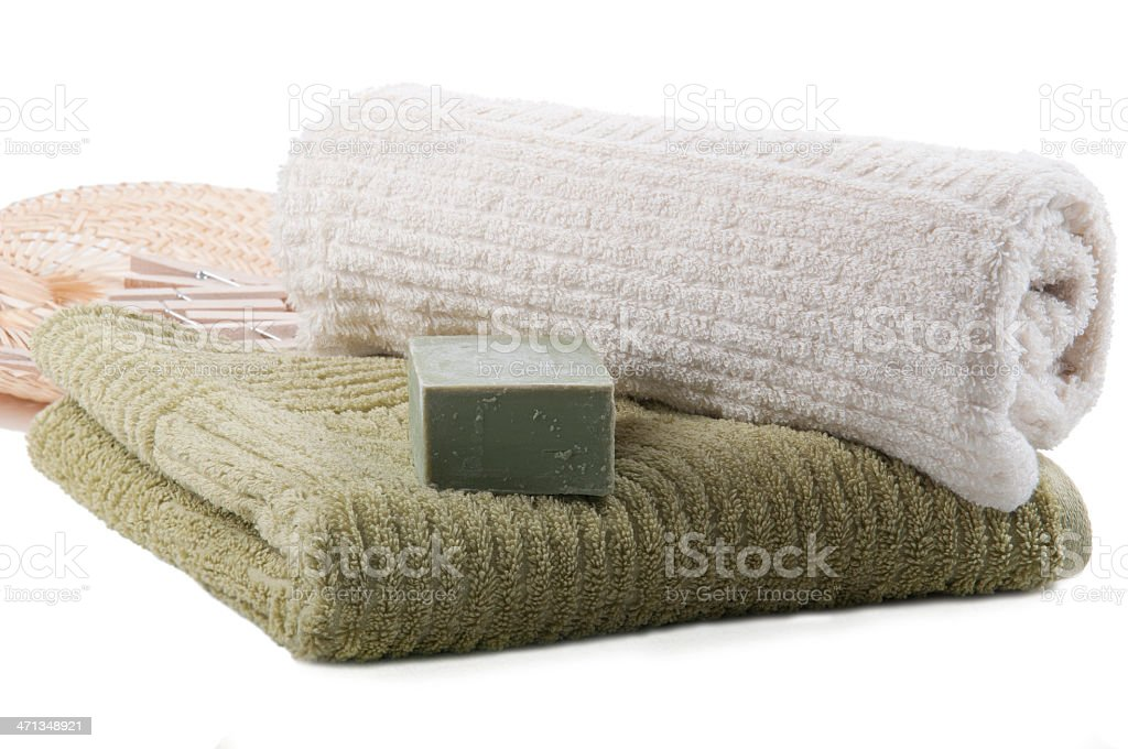 Soft towels stock photo