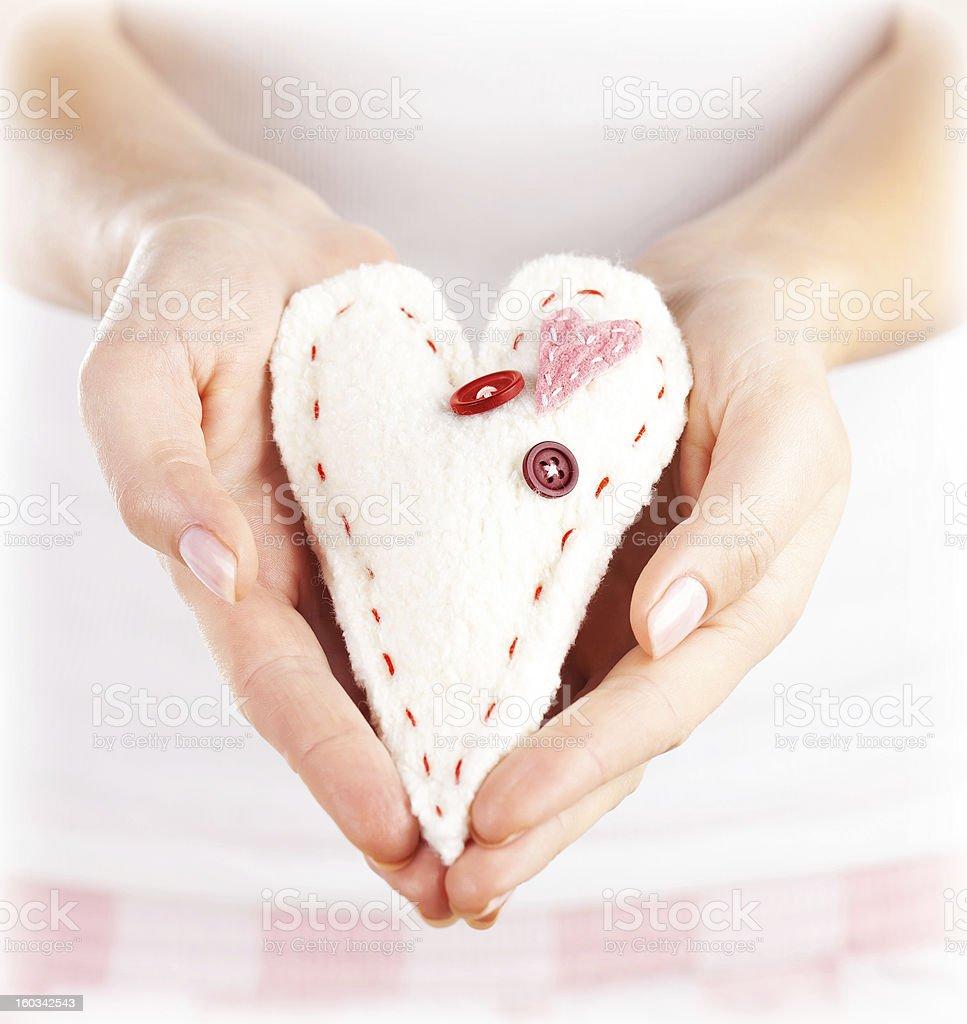 Soft toy heart-shaped royalty-free stock photo
