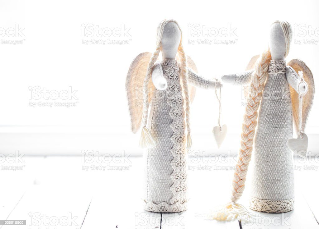 soft toys angels stock photo
