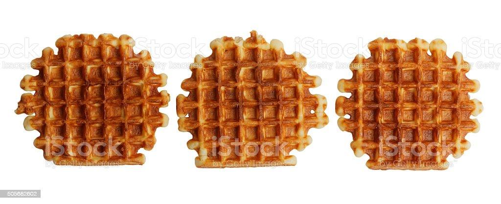 Soft waffles isolated on white stock photo