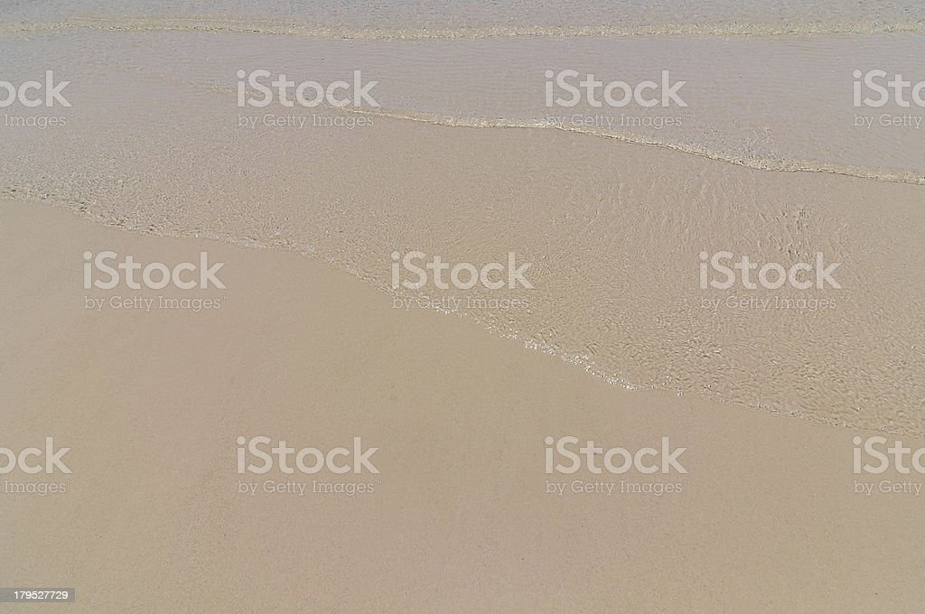 Soft wave of the sea royalty-free stock photo