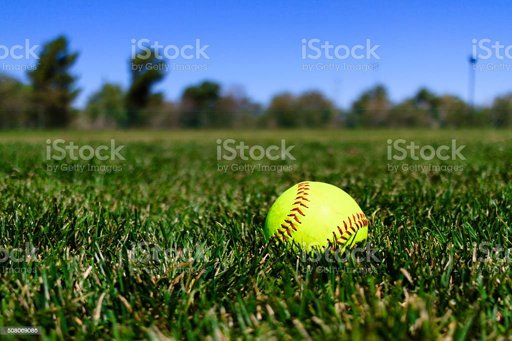 Softball at a Field in California with Blue Sky