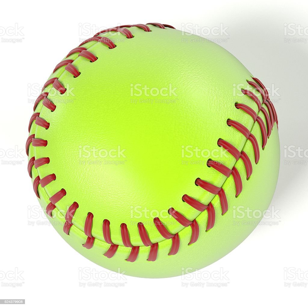 3d renderings of softball ball