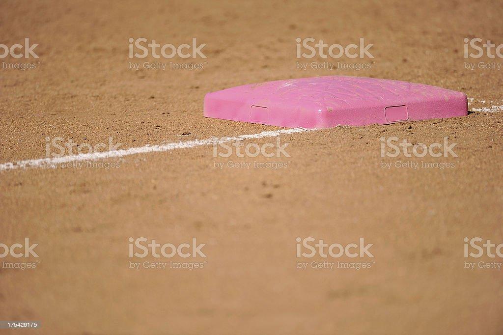 Softball Base royalty-free stock photo