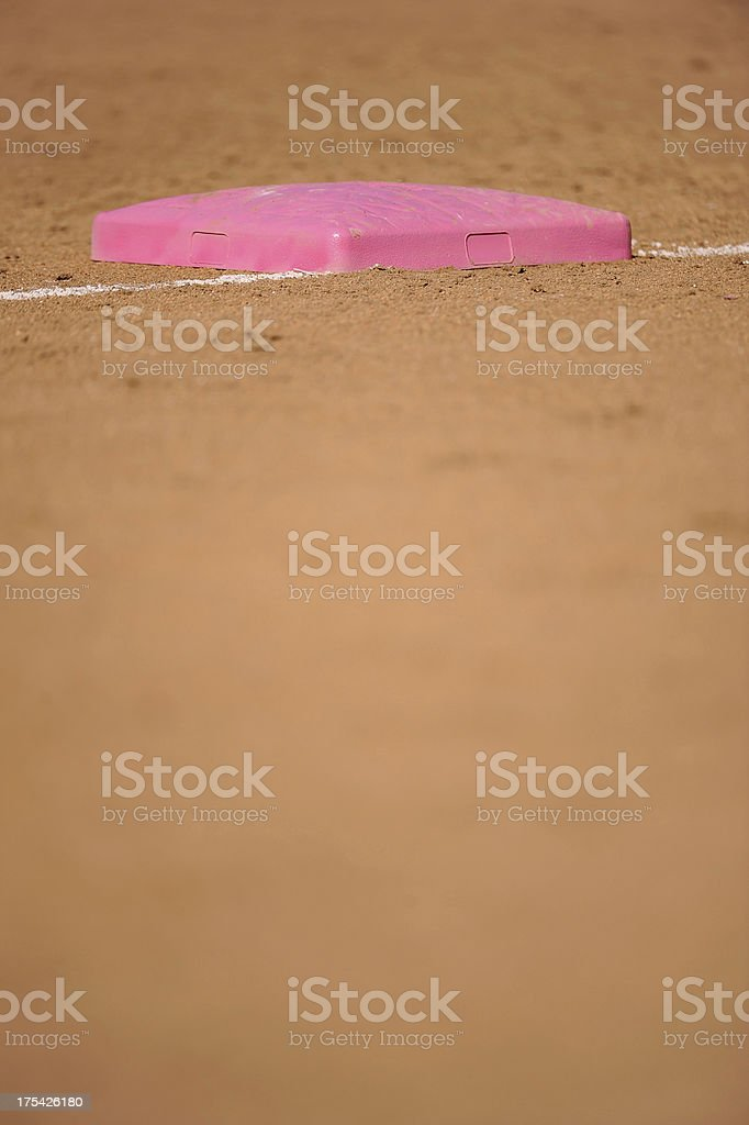 Softball Base royalty-free stock photo