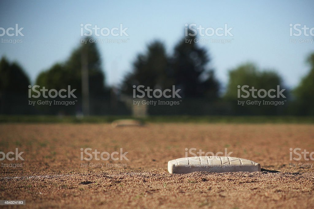 Softball Base stock photo