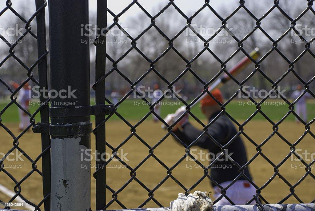 Softball game. stock photo
