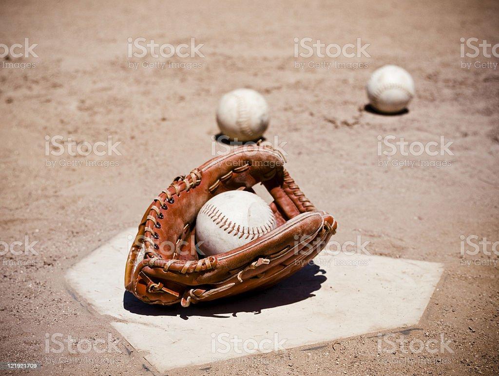 Softball Glove stock photo