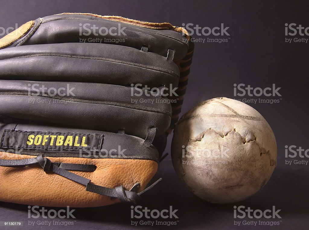Softball Mitt royalty-free stock photo