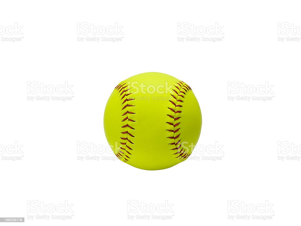 Softball (clipping path included) stock photo