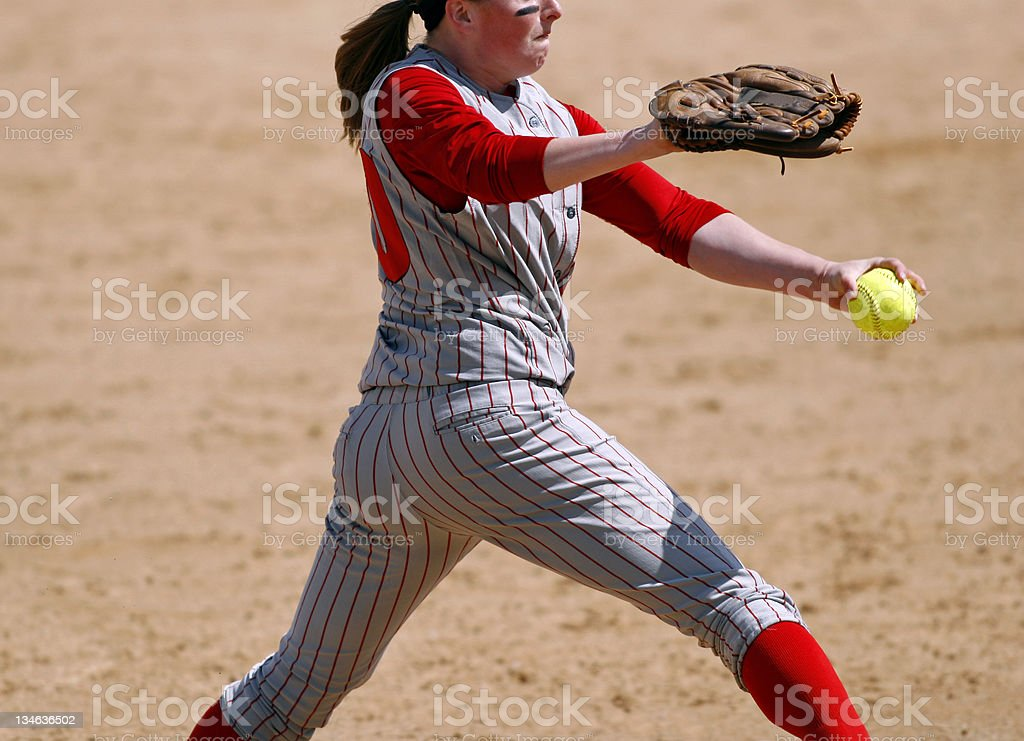 Softball Pitcher royalty-free stock photo