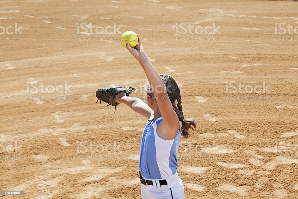 Softball pitcher stock photo