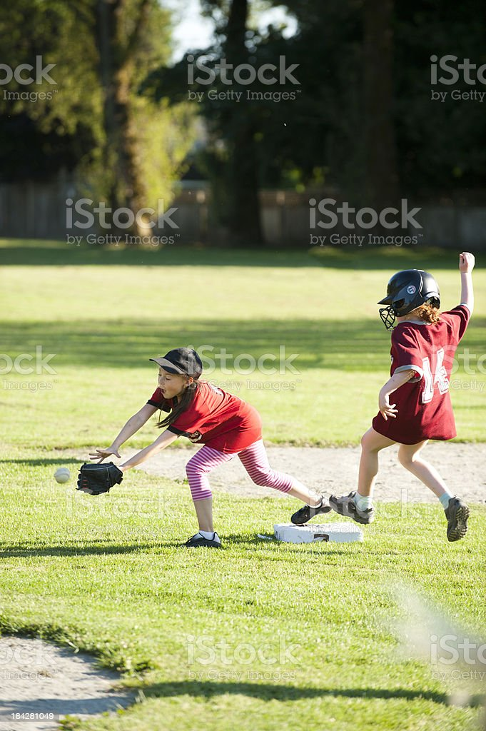 Softball Play stock photo