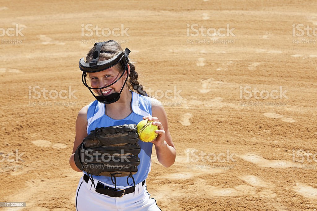 Softball player royalty-free stock photo