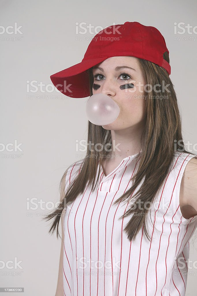 softball player with attitude royalty-free stock photo