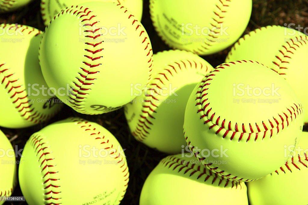 Softballs stock photo