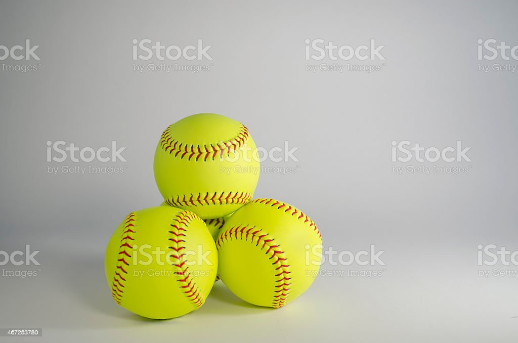 stacked softballs.