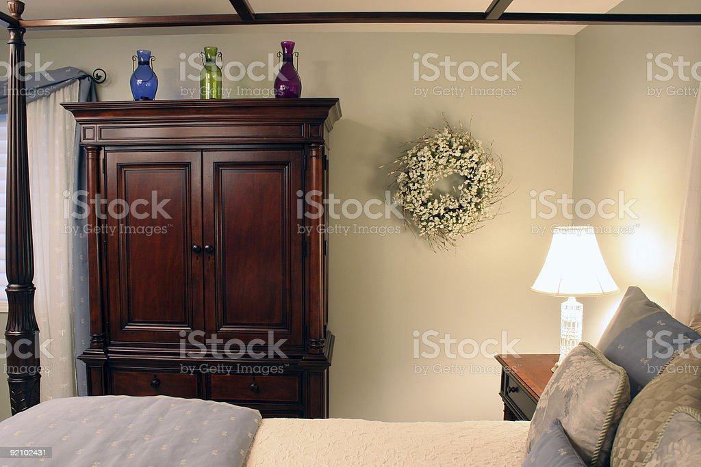 Softly lit Bedroom royalty-free stock photo