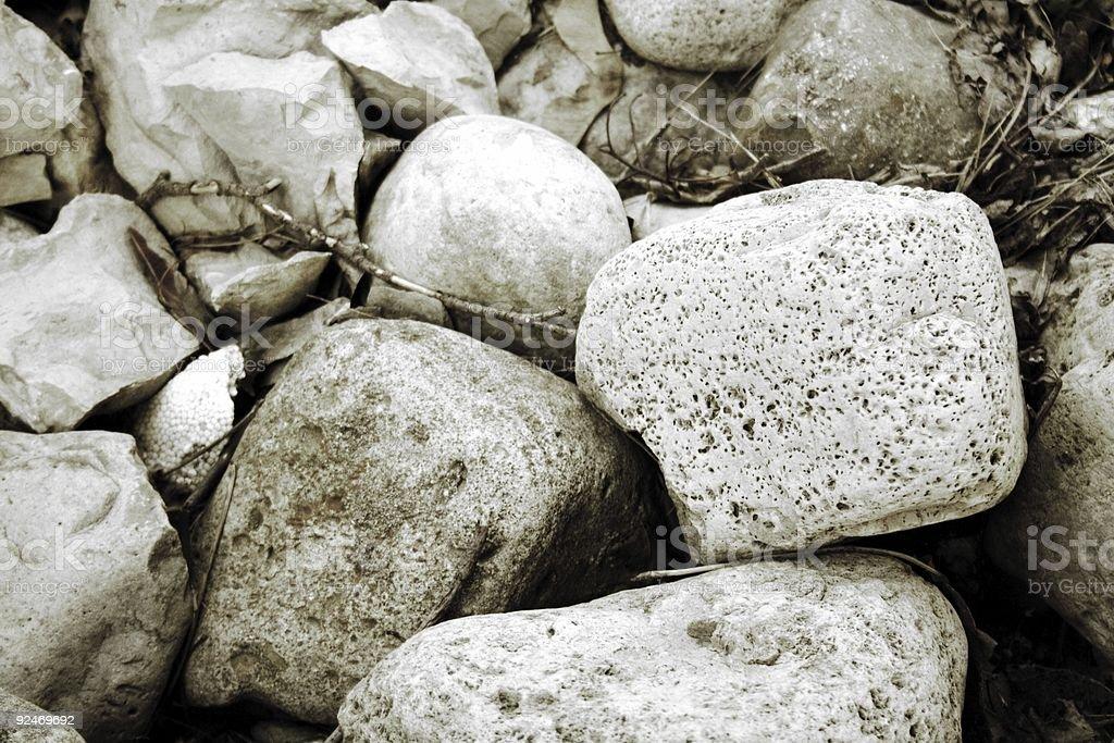 Softly Shaded Rocks royalty-free stock photo