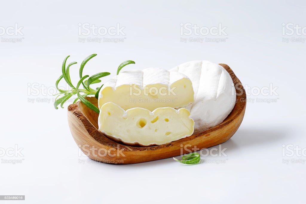 soft-ripened cheese stock photo