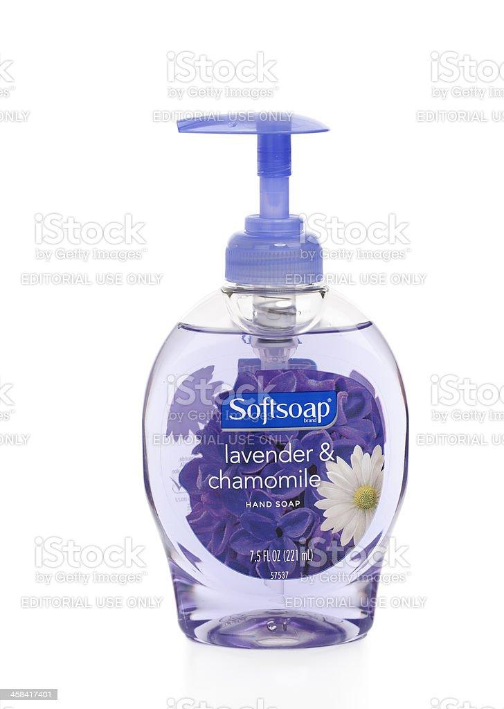 Softsoap Lavender Hand Soap stock photo