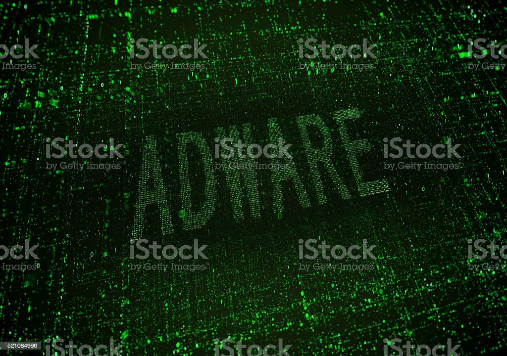 Software Adware stock photo