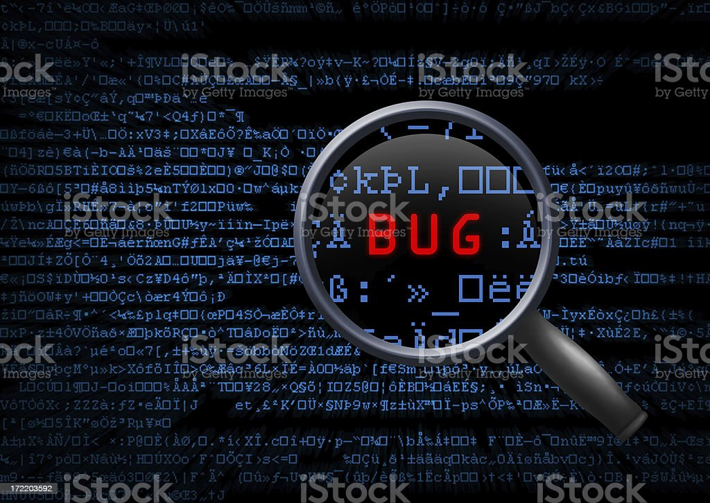 Software Bug royalty-free stock photo