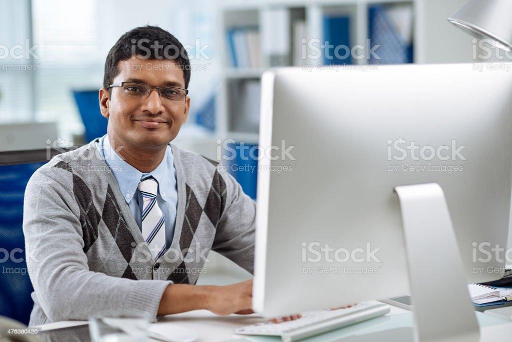 Software developer stock photo