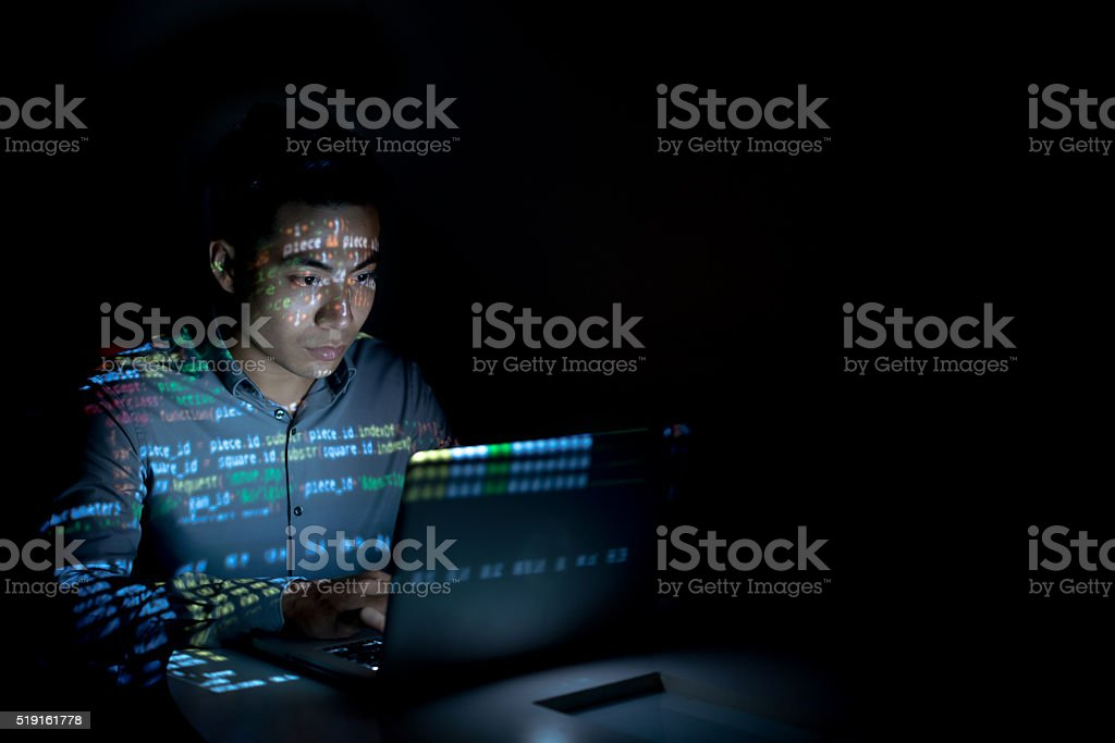 Software developer stock photo