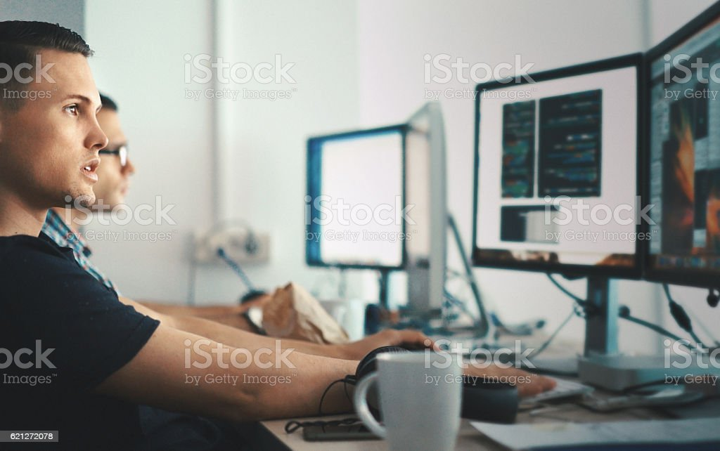 Software developers. stock photo