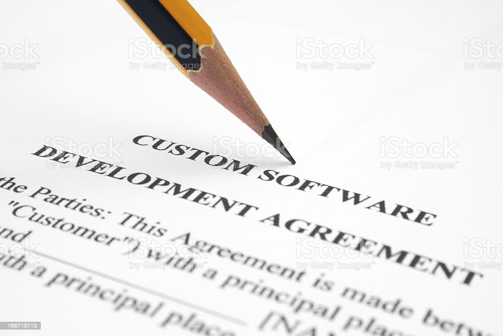 Software Development Agreement Stock Photo 168713110 | Istock