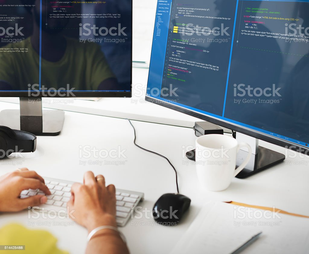 Software Programming Web Development Concept stock photo