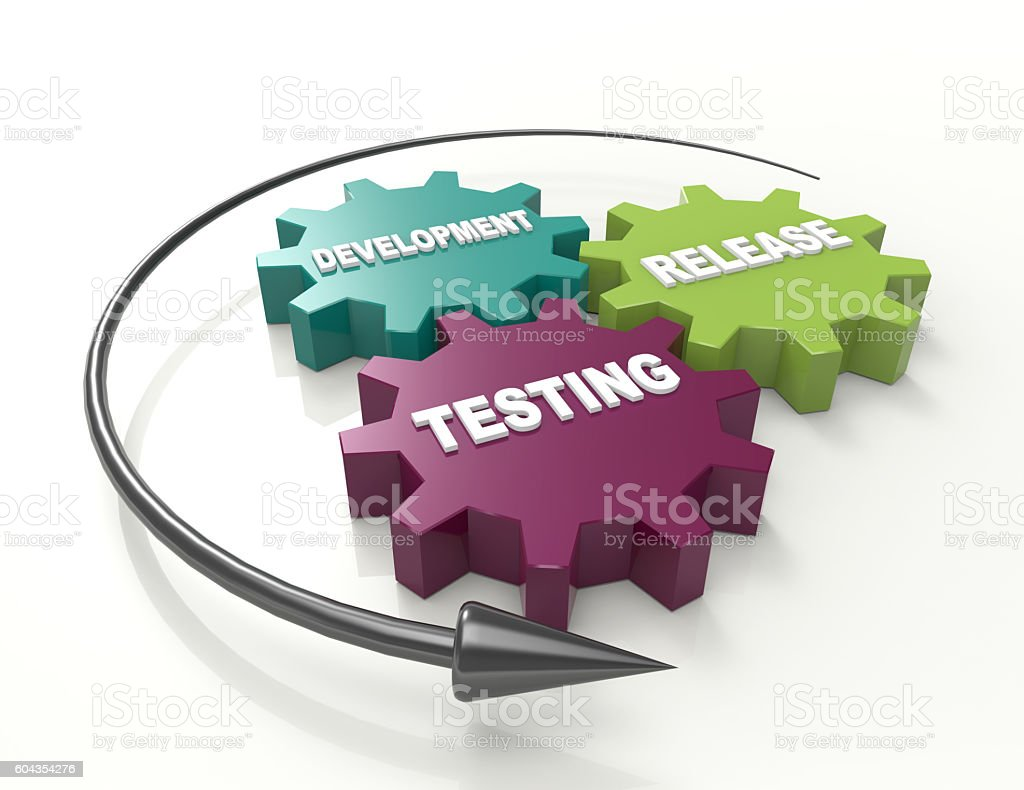 Software release cycle stock photo