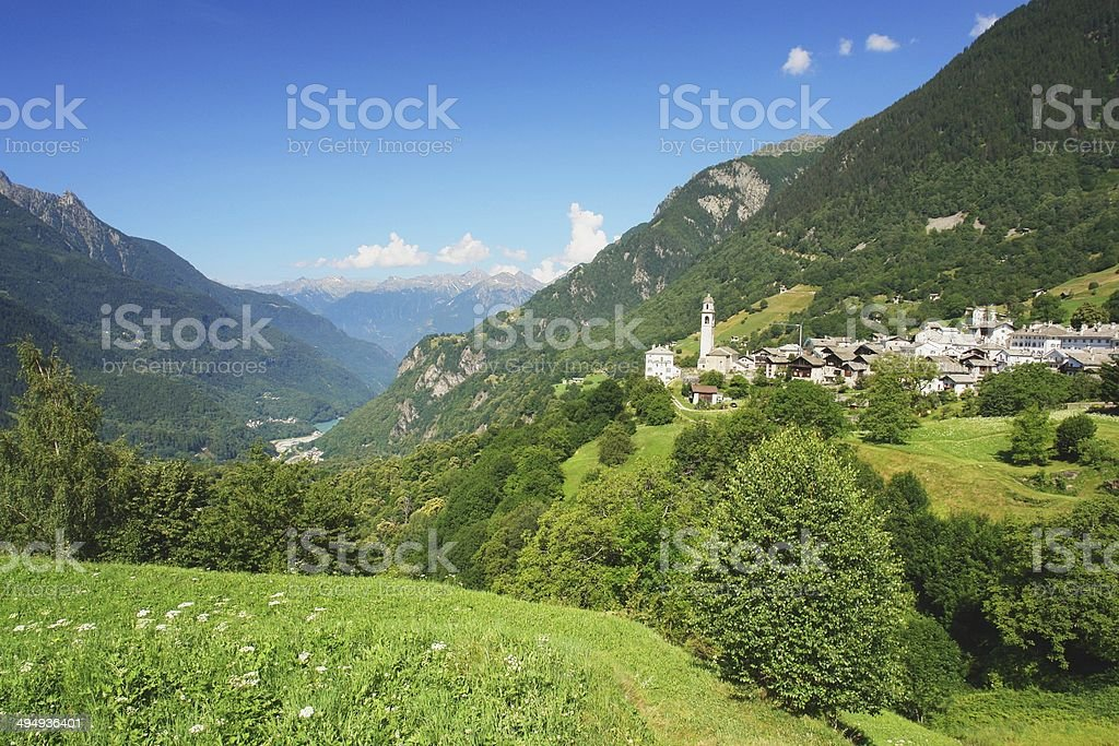 Soglio, Switzerland royalty-free stock photo