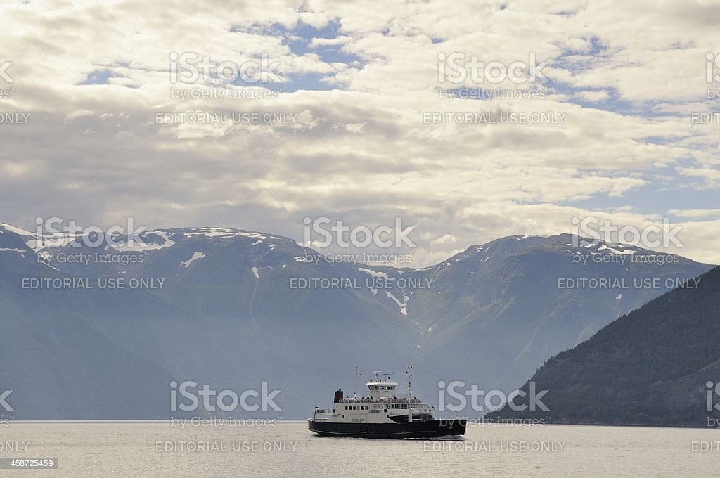 Sognefjord ferry royalty-free stock photo