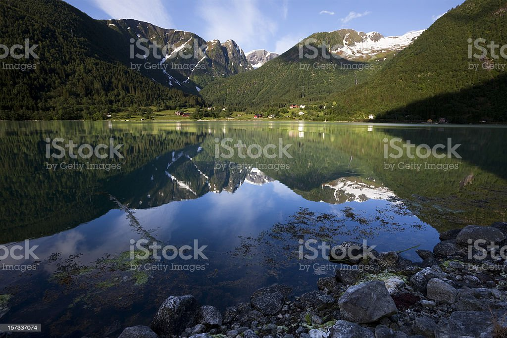 Sognefjord  in Norway royalty-free stock photo