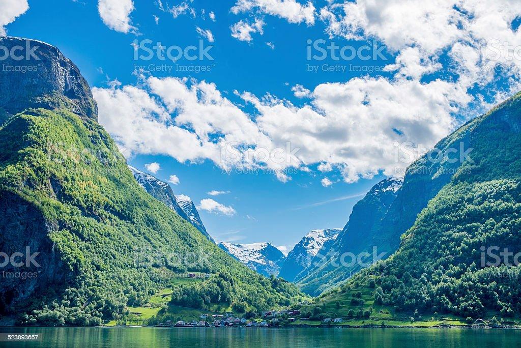 Sognefjord, Norway stock photo