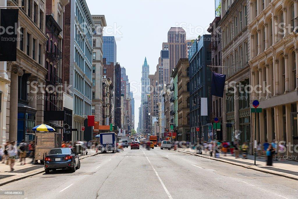 Soho building facades in Manhattan New York City stock photo