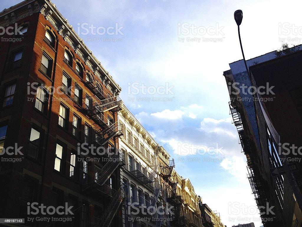 Soho Buildings in New York royalty-free stock photo