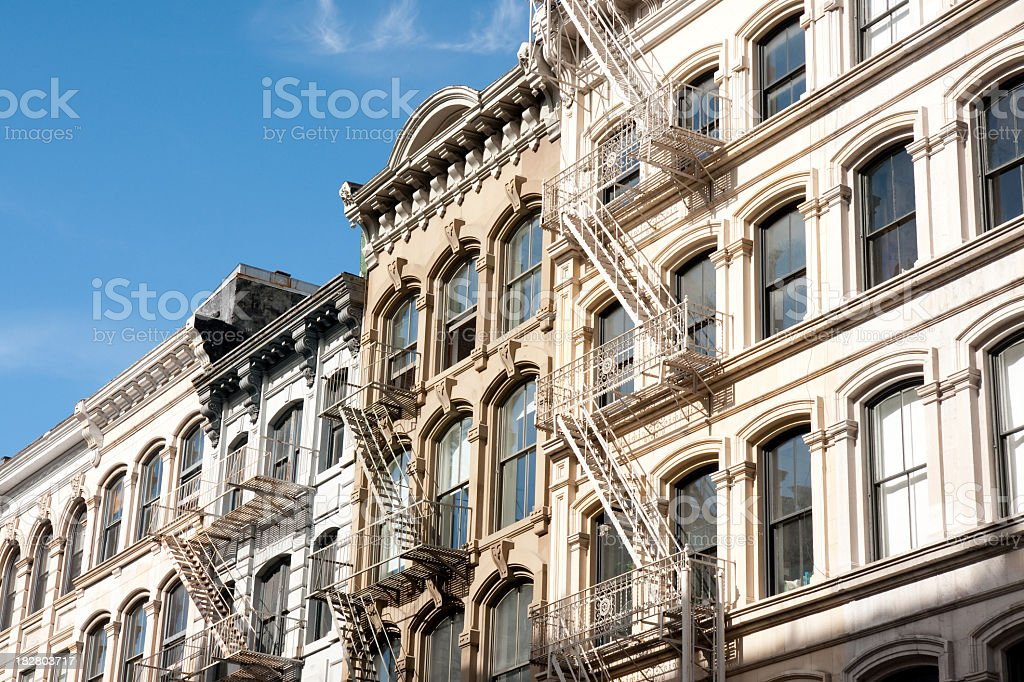 SoHo lofts as an example of New York architecture stock photo