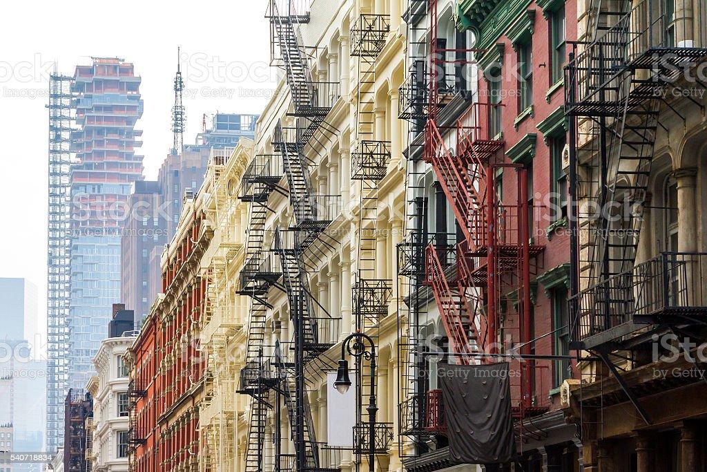 Soho Neighborhood in Manhattan New York City stock photo