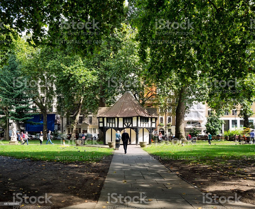 Soho Square stock photo