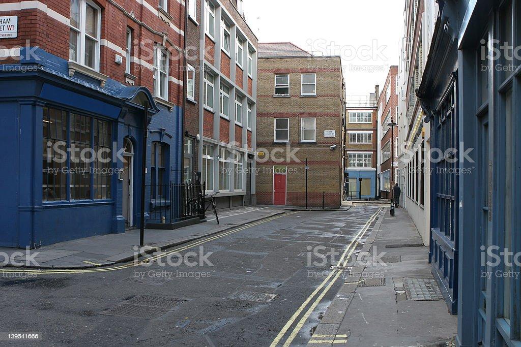 Soho Street stock photo
